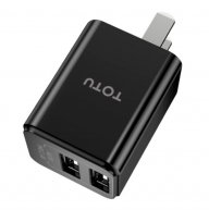 TOTUDESIGN Yin Series AC17 DC 5V-2.4A Dual USB Interface Travel Charger, US Plug