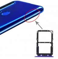 SIM Card Tray + NM Card Tray for Huawei Nova 5(Purple)