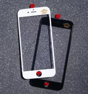 For Iphone 6 Plus Front Glass Lens with Frame+OCA Sticker(3 in 1)