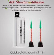 AEF Structural Adhesive For Iphone 8/8P/X/XS/XS Max Back Glass Lens&LCD Frame Bezel(Need Glue Gun CPR190505E01)