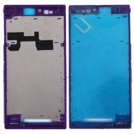 For Sony Xperia Z Ultra / XL39h / C6802 Front Housing LCD Frame Bezel Plate(Purple)