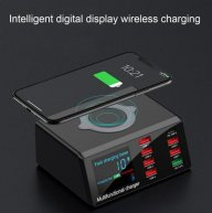 8 Port Multi Fast Usb Charger Quick Charge 3.0 Phone Charging Station Led Display Usb Smart Wireless Digital Display Charger X9