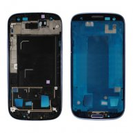 Front Housing Frame Bezel Plate for Samsung Galaxy S 3 iii I9305 - Black