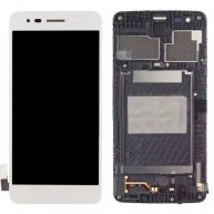 For LG K8 2017 / M200N / M210 / MS210 LCD Screen + Touch Screen Digitizer Assembly with Frame(Silver)