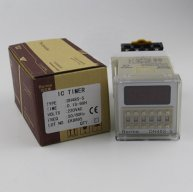 DH48S-S 0.1s~99h Repeat Cycle SPDT Time Relay Counter with Socket/Base