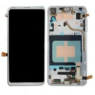 For LG V30 LCD Screen + Touch Screen Digitizer Assembly with Frame(Silver)
