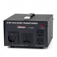 LT-2000 2000 Watt Voltage Converter Transformer - Step Up/Down - 110V/220V - Circuit Breaker Protection