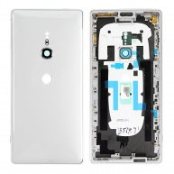 For Sony Xperia XZ2 Back Cover with Middle Frame - Liquid Silver