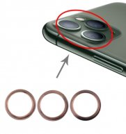3PCS/Set Rear Camera Glass Lens Metal Protector Hoop Ring for iPhone 11 Pro & 11 Pro Max