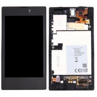 LCD Display + Touch Screen Digitizer Assembly with Frame Replacement for Nokia Lumia 520(Black)