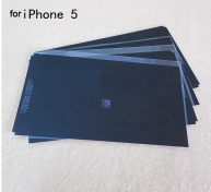 For iPhone 5/5s backlight black sticker Silver Reflective film 20pc