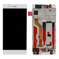LCD Screen with Touch Screen Assembly Replacement With Frame for Huawei P9 White
