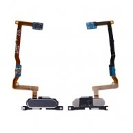 Home Button with Connector, Flex Cable and Fingerprint Scanner Sensor for Samsung Galaxy Alpha G850F- Gray