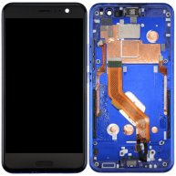 For HTC U11 LCD Screen + Touch Screen Digitizer Assembly with Frame(Dark Blue)