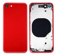 Replacement for iPhone 8 Back Cover with Middle Frame - Red