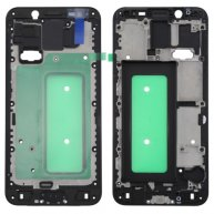For Samsung Galaxy C8 Front Housing LCD Frame Bezel Plate(Black)