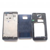 Full Housing Cover for Samsung I9105 Galaxy S II Plus -Black