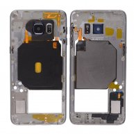 Middle Housing with Camera Lens and Camera Bezel Cover, for Samsung Galaxy SVI Edge Plus-Black