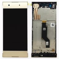 For Sony Xperia XA1 LCD Screen + Touch Screen Digitizer Assembly with Frame-Gold