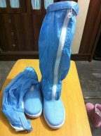 Anti-static ESD PVC Sleeve Shoes Cleanroom Boots Antistatic Work Shoes - blue