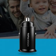 TOTUDESIGN 4.8A Dual Ports Metal Shell Smart Fast Charger Mini Car Charger