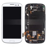 OEM AT&T For Samsung Galaxy S III SGH-I747 LCD Assembly with Touch Screen + Front Frame - White