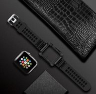TOTUDESIGN Armour Series TPU+PC Watch Strap for Apple Watch Series 4/3/2/1 42mm & 38mm