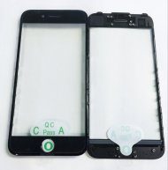 "OR Quality Front Glass Lens With Frame And OCA Sticker For Iphone 7 Plus 5.5""(Cool Glue)-Black"