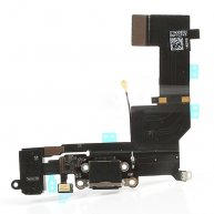 For iPhone 5s Dock Connector Charging Port Flex Cable Replacement - Black(Good Quality)