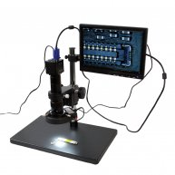10-180X HD 1080P HDMI electronic display video microscope for mobile phone repair