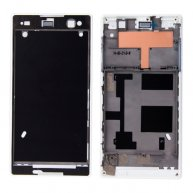 Front Housing with Adhesive Sticker for Sony Xperia C3(White)