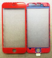 "High Quality Front Glass Lens with Frame For Ipone 7 4.7""(Chinese Red)"