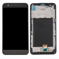 For LG K10 2017 LCD Screen + Touch Screen Digitizer Assembly with Frame(Black)