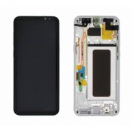 For Samsung Galaxy S8+ LCD Display + Touch Screen Digitizer Assembly With Frame (Silver)