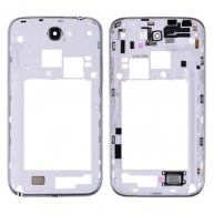 Back Housing with Bezel and Camera lens&Power&Volume Buttons for Samsung Galaxy Note II SCH-i605/ L900/R950-White