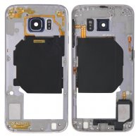 Back Plate Housing Camera Lens Panel with Side Keys and Speaker Ringer Buzzer for Samsung Galaxy S6 / G920(Blue)