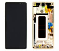 LCD Screen with Touch Screen Assembly Replacement With Frame for Samsung Galaxy Note 8 N950F Gold Ori