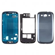 Middle Frame Bezel + Middle Plate + Battery Cover Full Housing Cover for AT&T For Samsung Galaxy S III SGH-I747 (OEM) - Pebble B