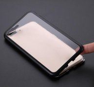 Luxury Magnetic Adsorption Case For iPhone X 8 7 6 6S Plus Magneto Metal Bumper Laser Glass Back Cover