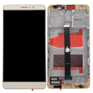LCD Screen + Touch Screen Digitizer Assembly with Bezel for Huawei Mate 9 -Champagne Gold