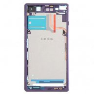 Front Housing LCD Frame Bezel Plate for Sony Xperia Z2 D6503 - Purple