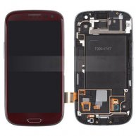 OEM AT&T For Samsung Galaxy S III SGH-I747 LCD Assembly with Touch Screen + Front Frame - Red
