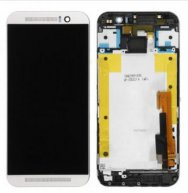 For HTC One M9 LCD Screen and Digitizer Assembly with Front Housing Replacement - Silver