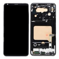 For LG V30 LCD Screen + Touch Screen Digitizer Assembly with Frame(Black)