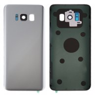 For Samsung Galaxy S8+ / G955 Battery Back Cover with Camera Lens Cover & Adhesive(Silver)