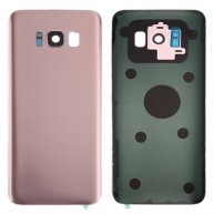 For Samsung Galaxy S8 / G950 Battery Back Cover with Camera Lens Cover & Adhesive(Rose Gold)