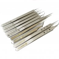 9pcs tweezers kit Flying line maintenance elbow tweezers tools electronic maintenance precision stainless steel tip