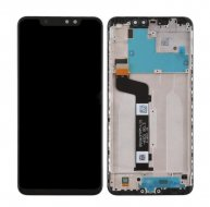 LCD Screen and Digitizer Full Assembly with Frame for Xiaomi Redmi Note 6 Pro (Black)