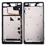 Front Housing LCD Frame Bezel Plate Replacement for Sony Xperia Z3 / L55w / D6603(Black)