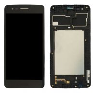 For LG K8 2017 / M200N / M210 / MS210 LCD Screen + Touch Screen Digitizer Assembly with Frame(Black)